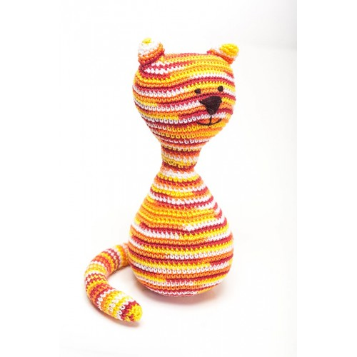 Crocheted Stripped Cat Toy
