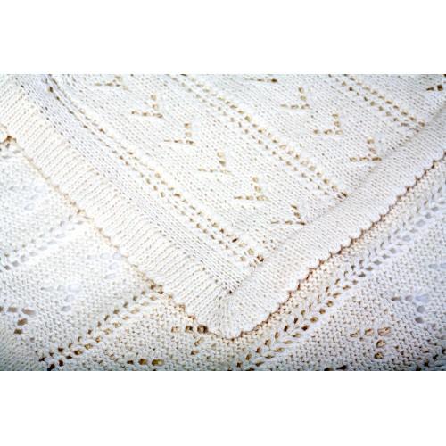 Fanny et Leon Open-knit Baby Blanket