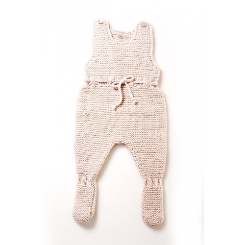 Fanny et Leon Pearl Knitted Romper with Bow