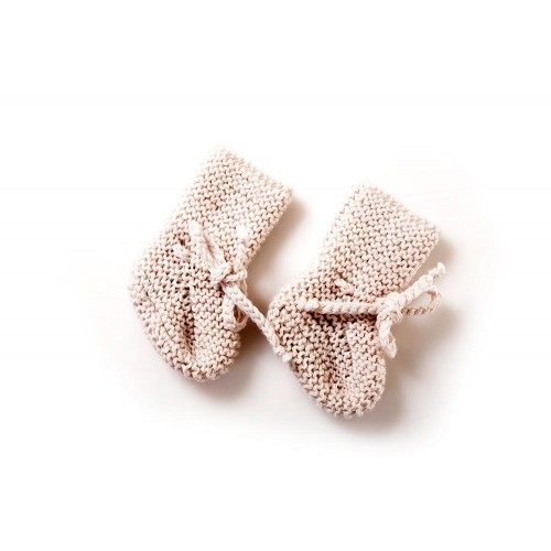 Fanny et Leon Baby Pink Knitted Booties