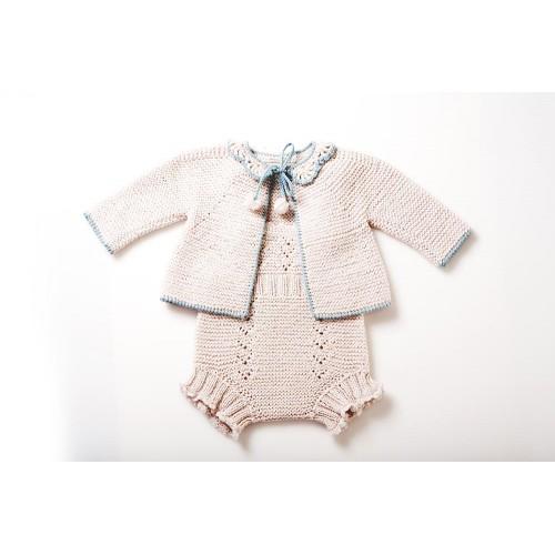 Fanny et Leon Pearl Knitted Mini Set