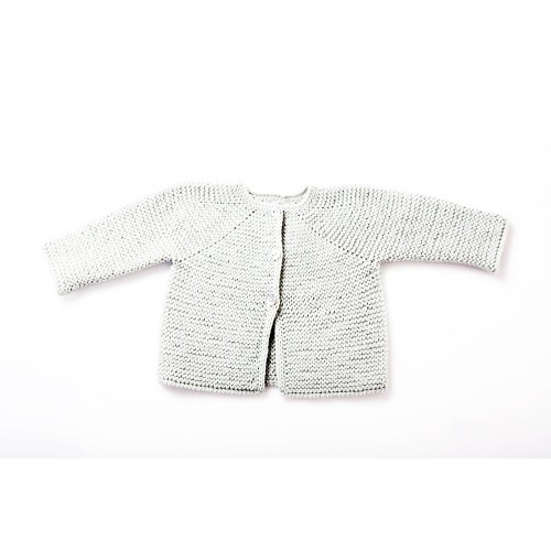 Fanny et Leon White Knitted Jacket
