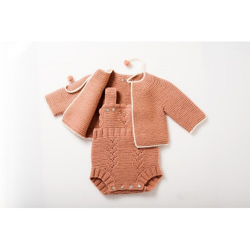 Fanny et Leon Coral Knitted Set Autumn