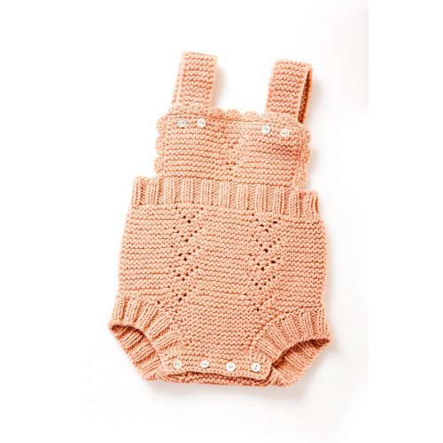 Fanny et Leon Coral Knitted Romper