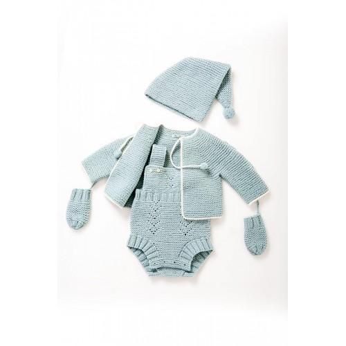 Fanny et Leon Blue Knitted Set