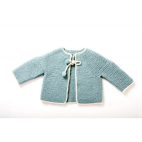 Fanny et Leon Baby Blue Knitted  Jacket with Ties
