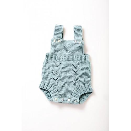 Fanny et Leon Baby Blue Knitted Romper