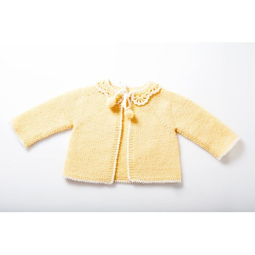 Fanny et Leon Yellow Knitted Jacket
