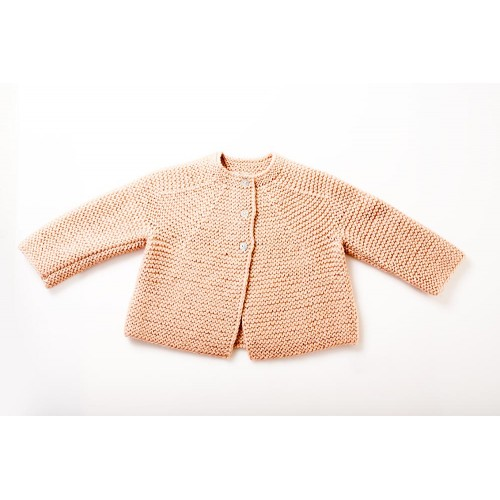 Fanny et Leon Baby Pink Knitted Jacket
