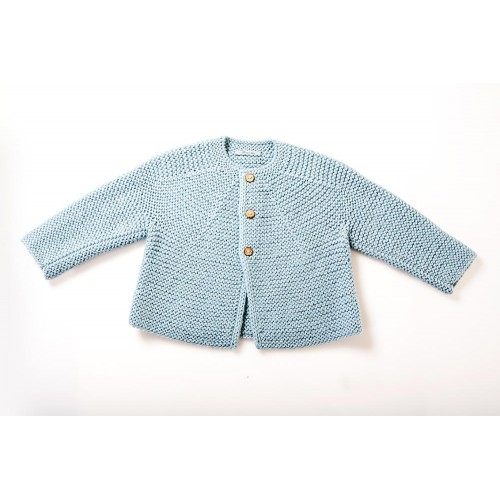 Fanny et Leon Baby Blue Knitted Jacket