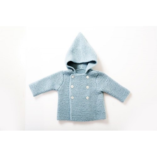 Fanny et Leon Baby Blue Knitted Hoodie