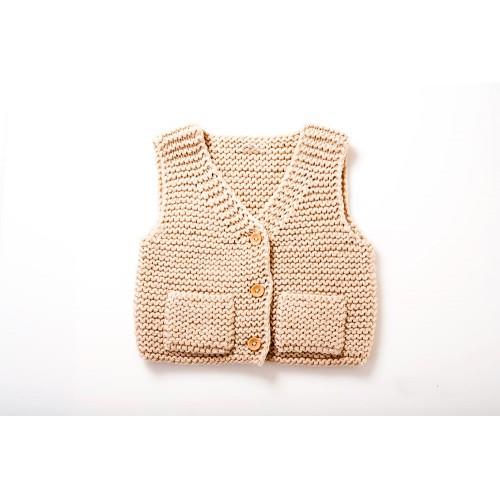 Fanny et Leon Pink Knitted Baby Vest
