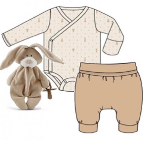 Baby gift set with bunny comforter